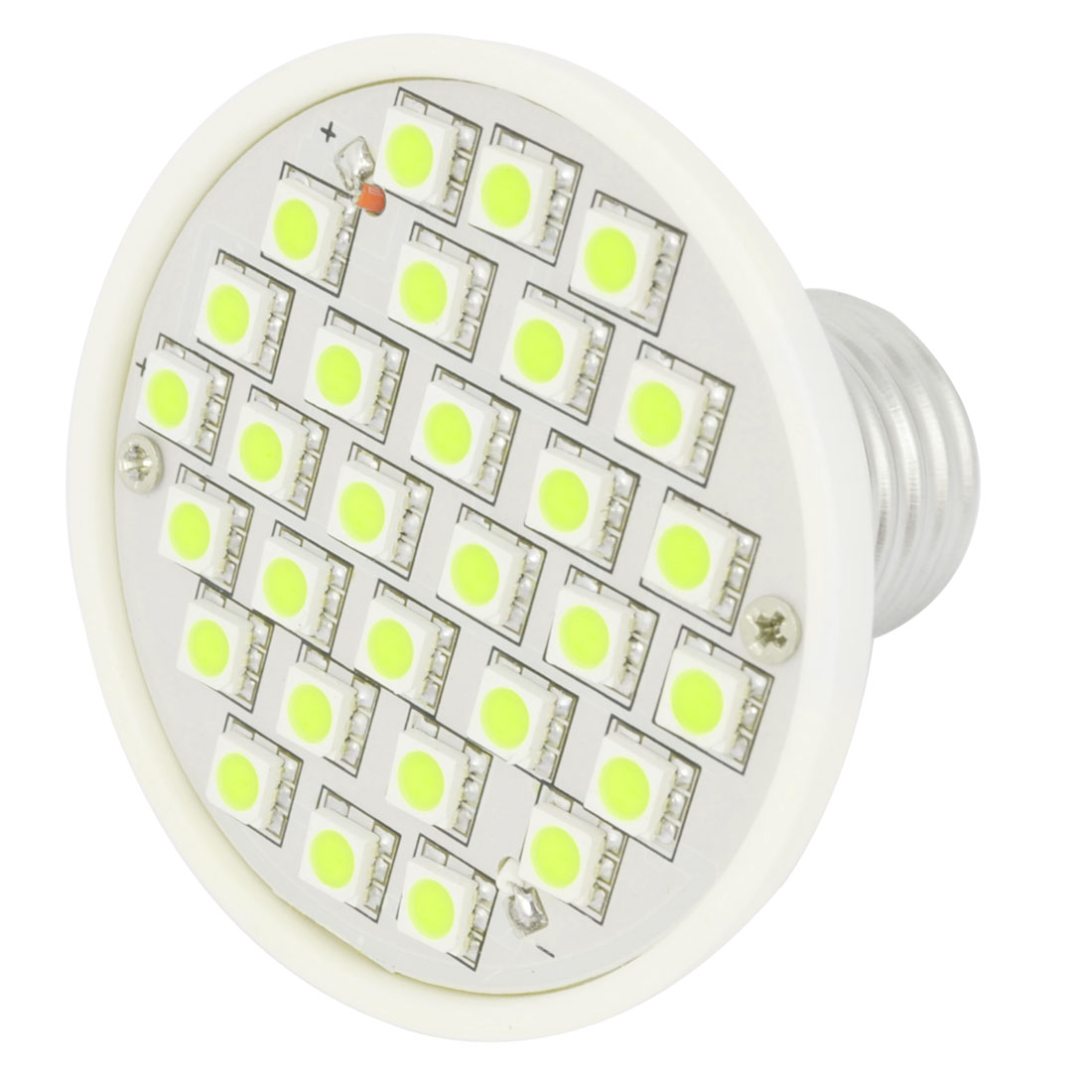 AC 220V E27 Base 30 3528 SMD 3W White LED Down Spot light Bulb