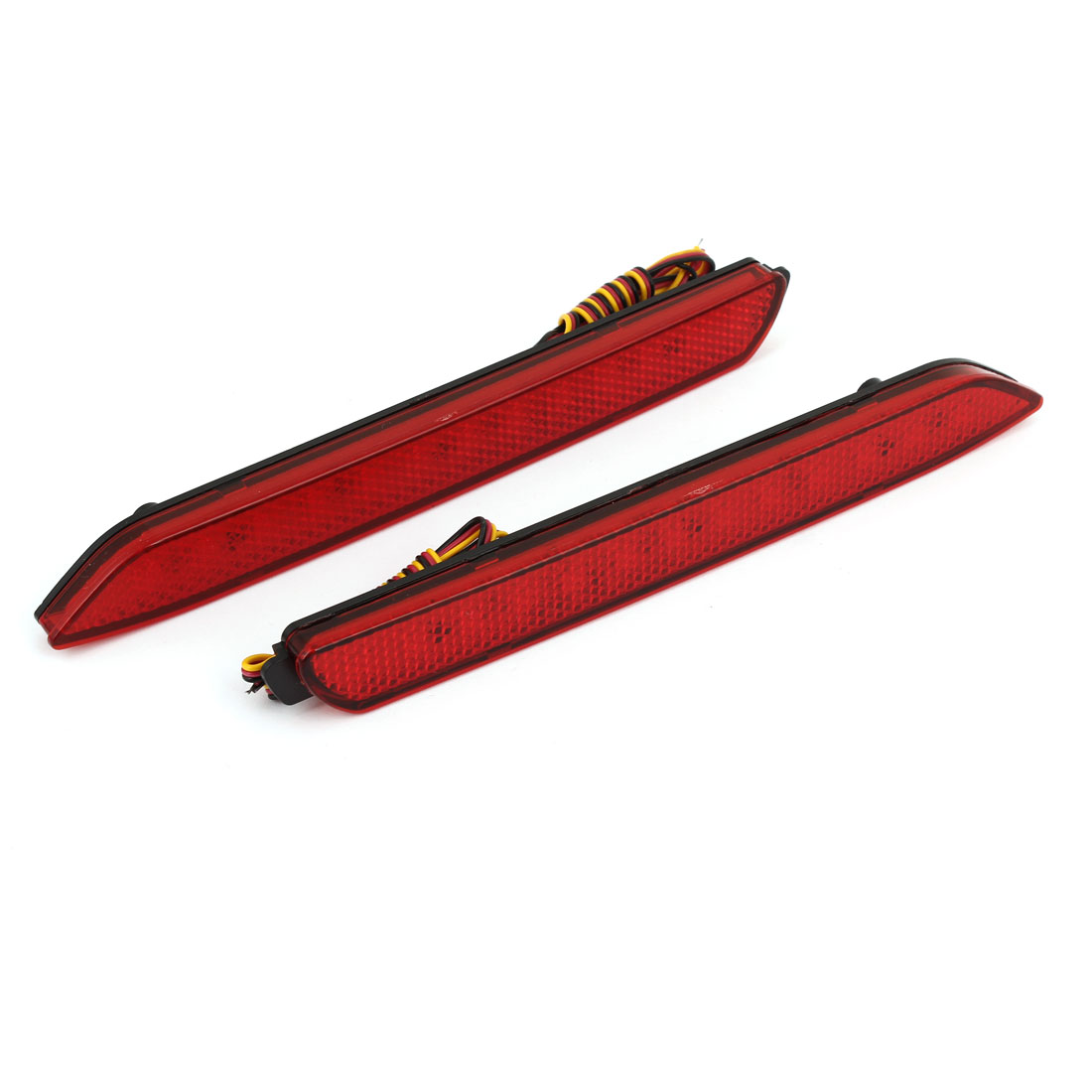 2 Pcs Car Red 13 LED Rear Bumper Reflector Tail Brake Lights for Reiz