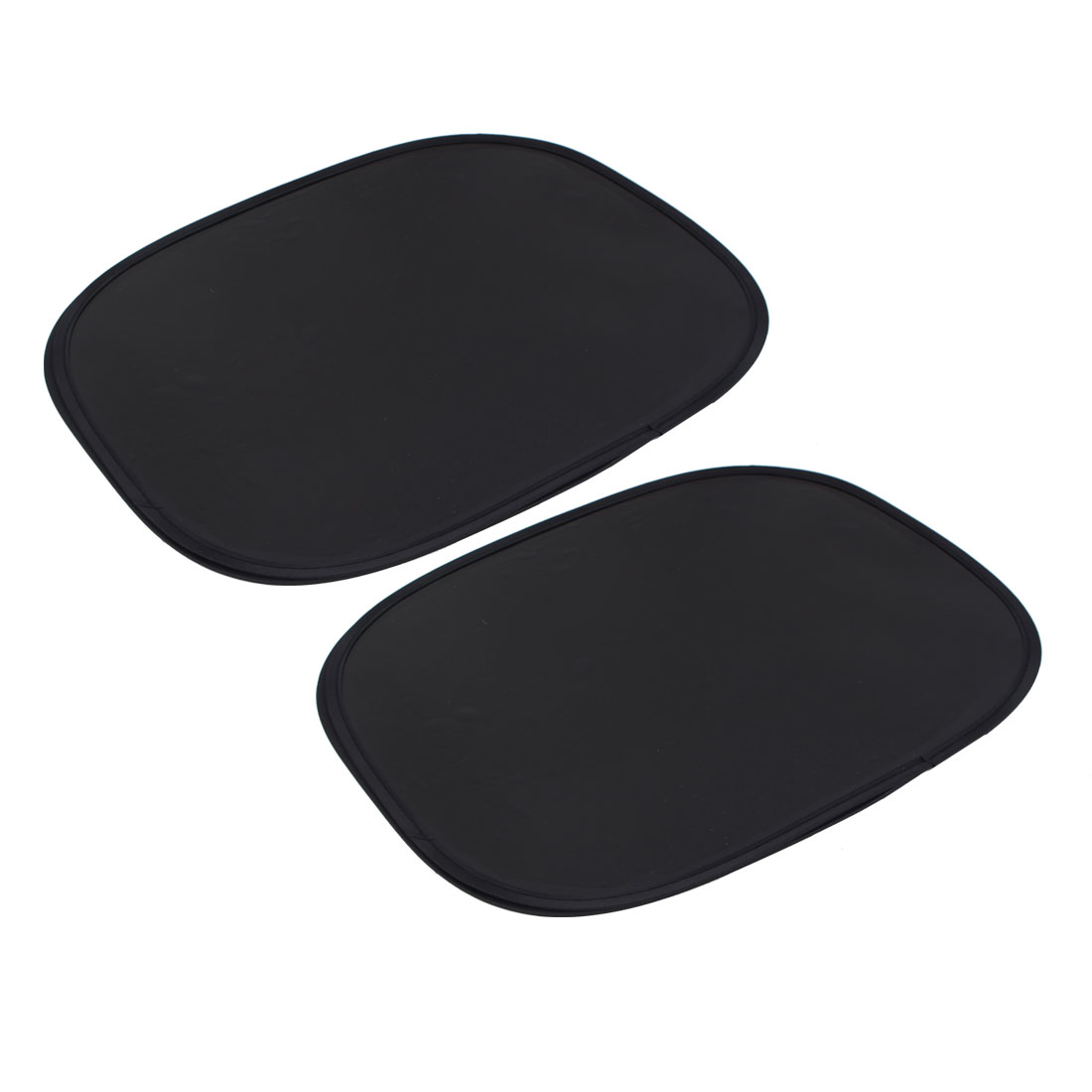 2 Pcs Black 42cm x 36cm PVC Film Side Window Sunshade for Car Vehicles