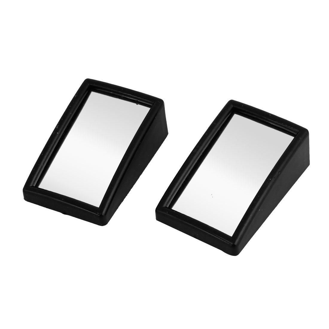 2 Pcs Black Housing Rectangular Safety Rear View Blind Spot Mirror for Vehicle Car