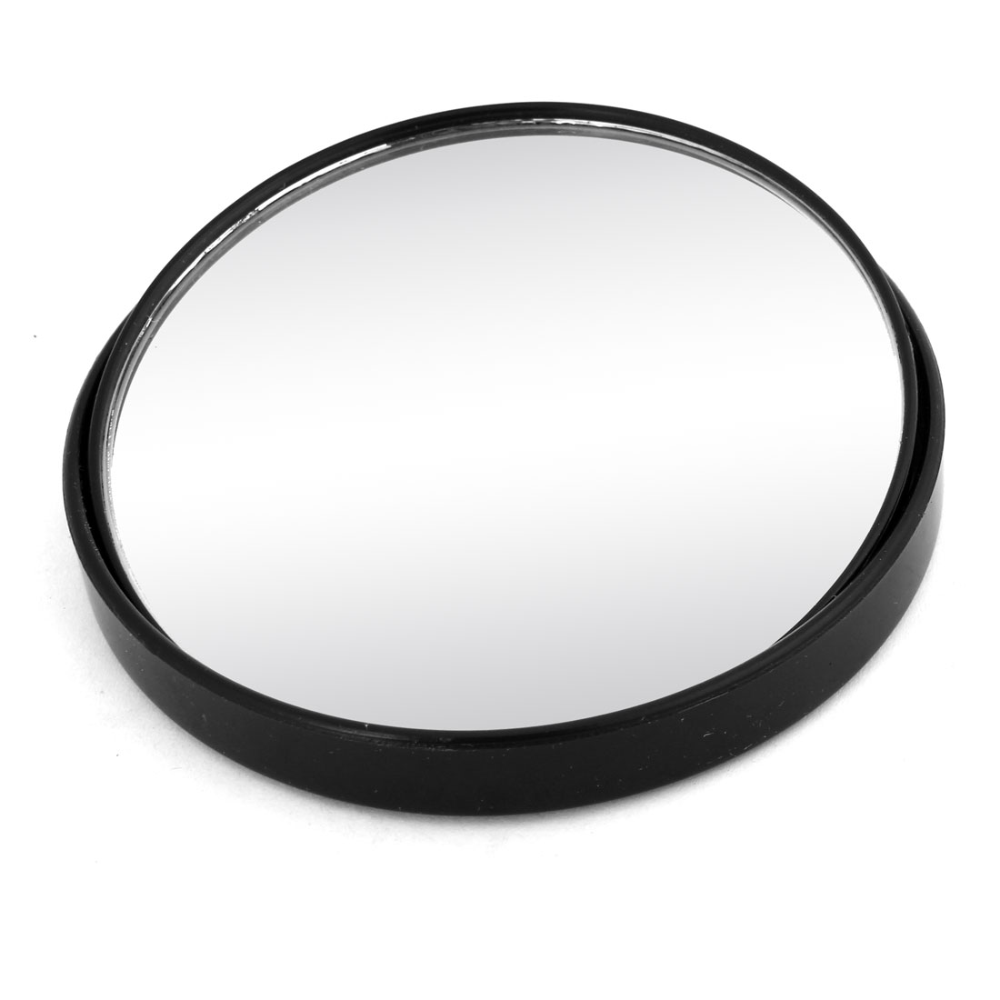 98mm Dia Black Shell Universal Wide Angle Round Rearview Blind Spot Mirror for Car