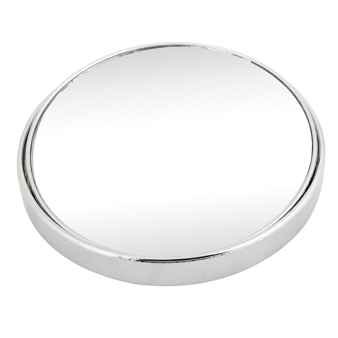 Universal Car Silver Tone 98mm Dia Round Wide Angle Convex Blind Spot Mirror