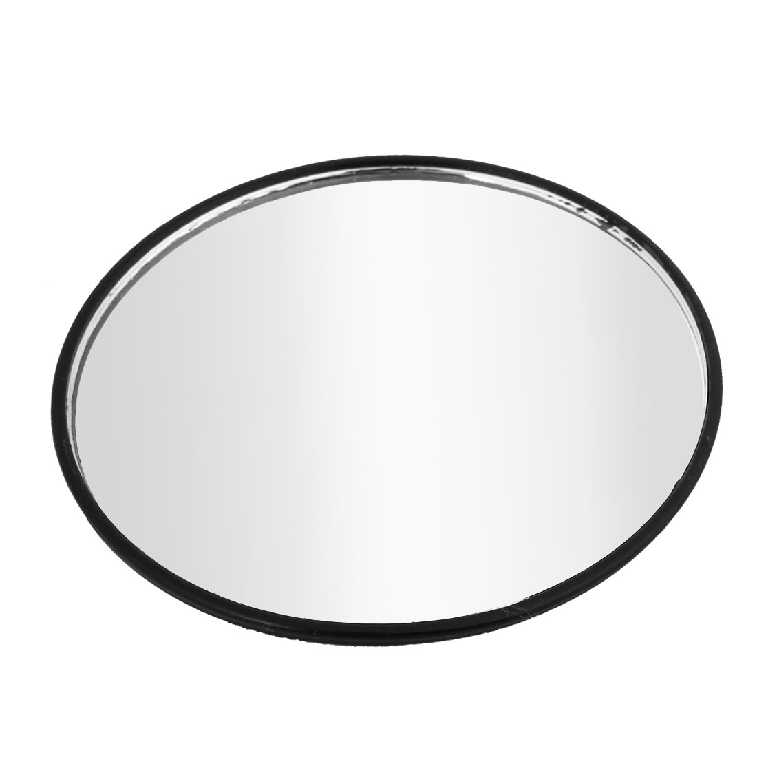95mm Dia Black Stick-on Round Shape Convex Rearview Blind Spot Mirror
