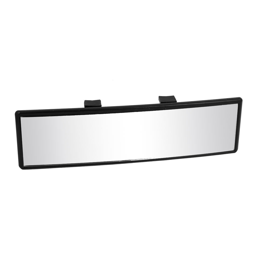 24cm x 6.5cm Black Paltic Shell Curve Clip on Auto Car Interior Rear View Mirror