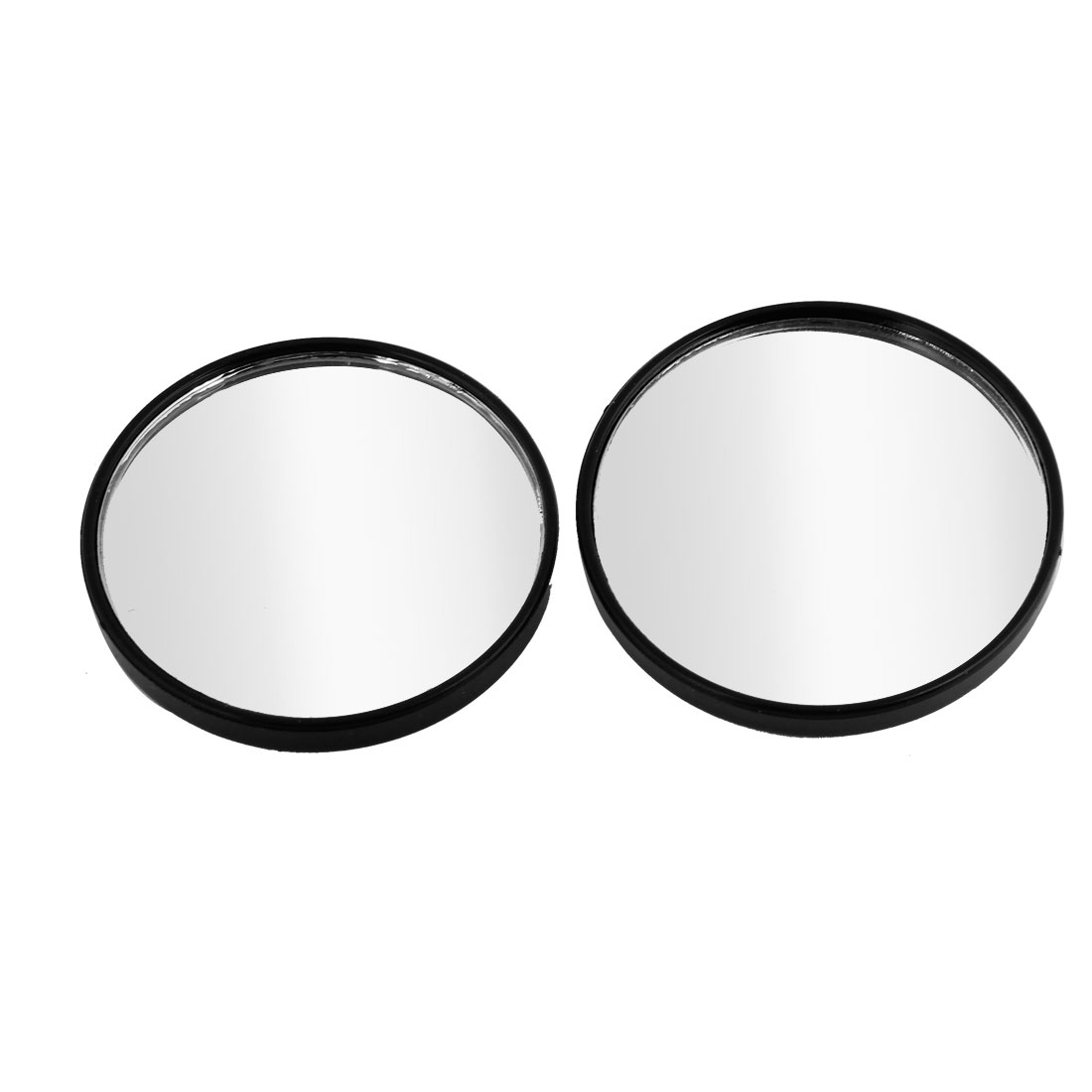 2 Pcs 52mm Car Adjustable Wide Angle Round Convex Rear View Blind Spot Mirror