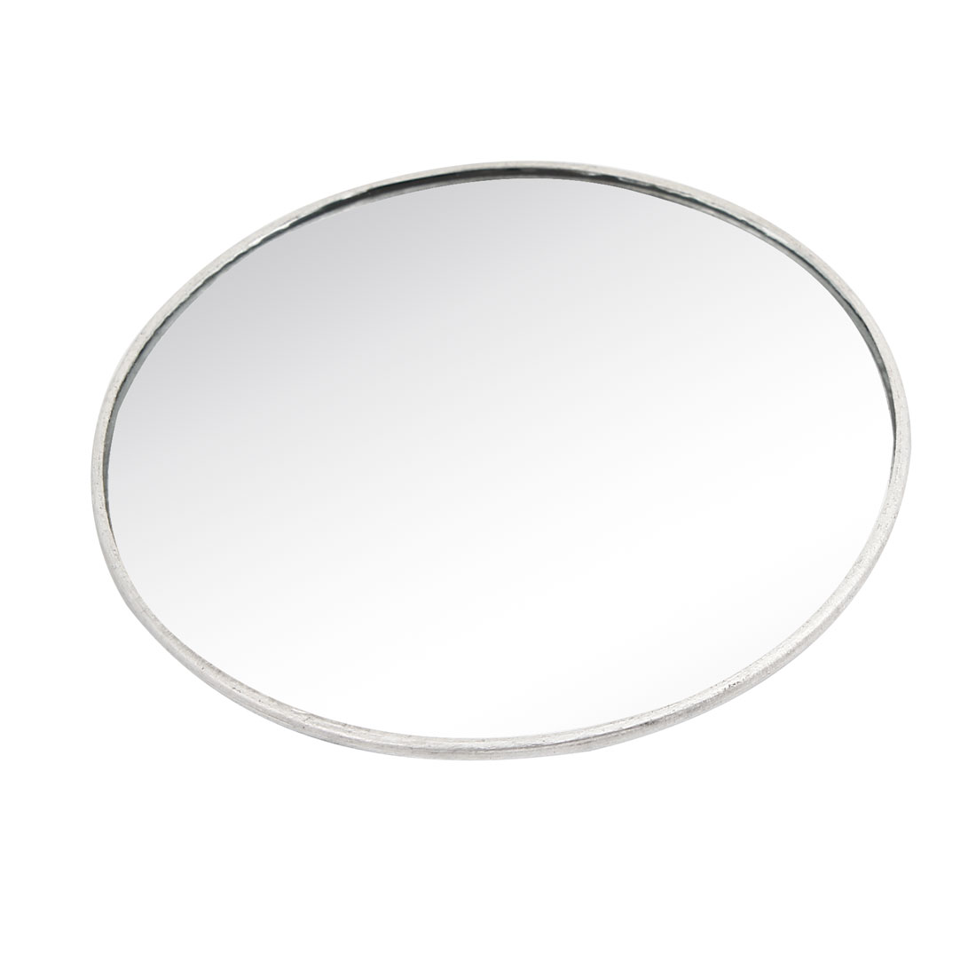 7.5cm Dia Silver Tone Frame Round Convex Rearview Blind Spot Mirror