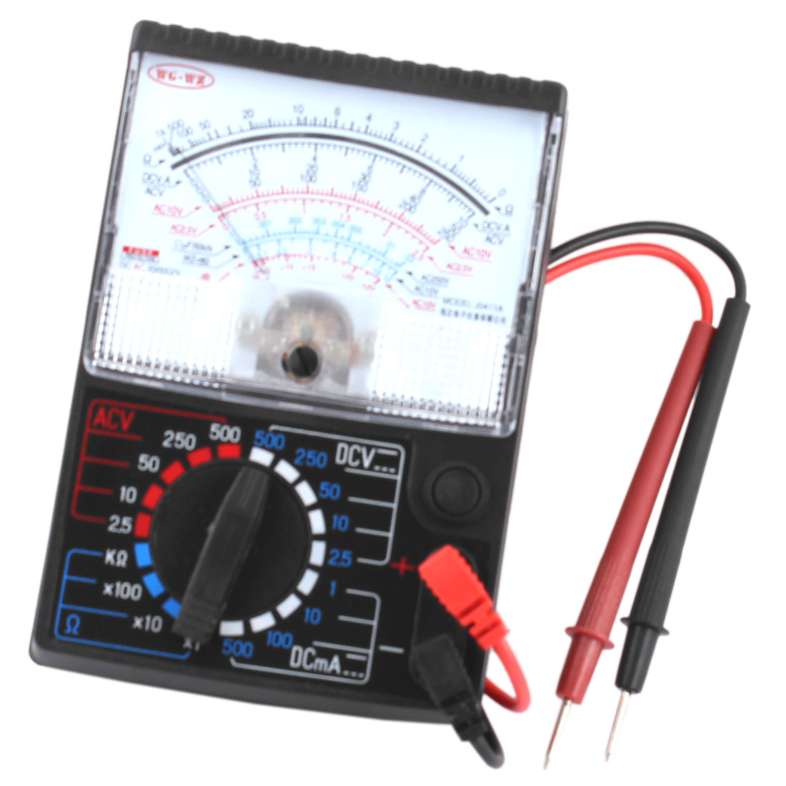 1mA-500mA DC AC Voltmeter Ohmmeter Ohm Ammeter Analog Multimeter w Probe Leads