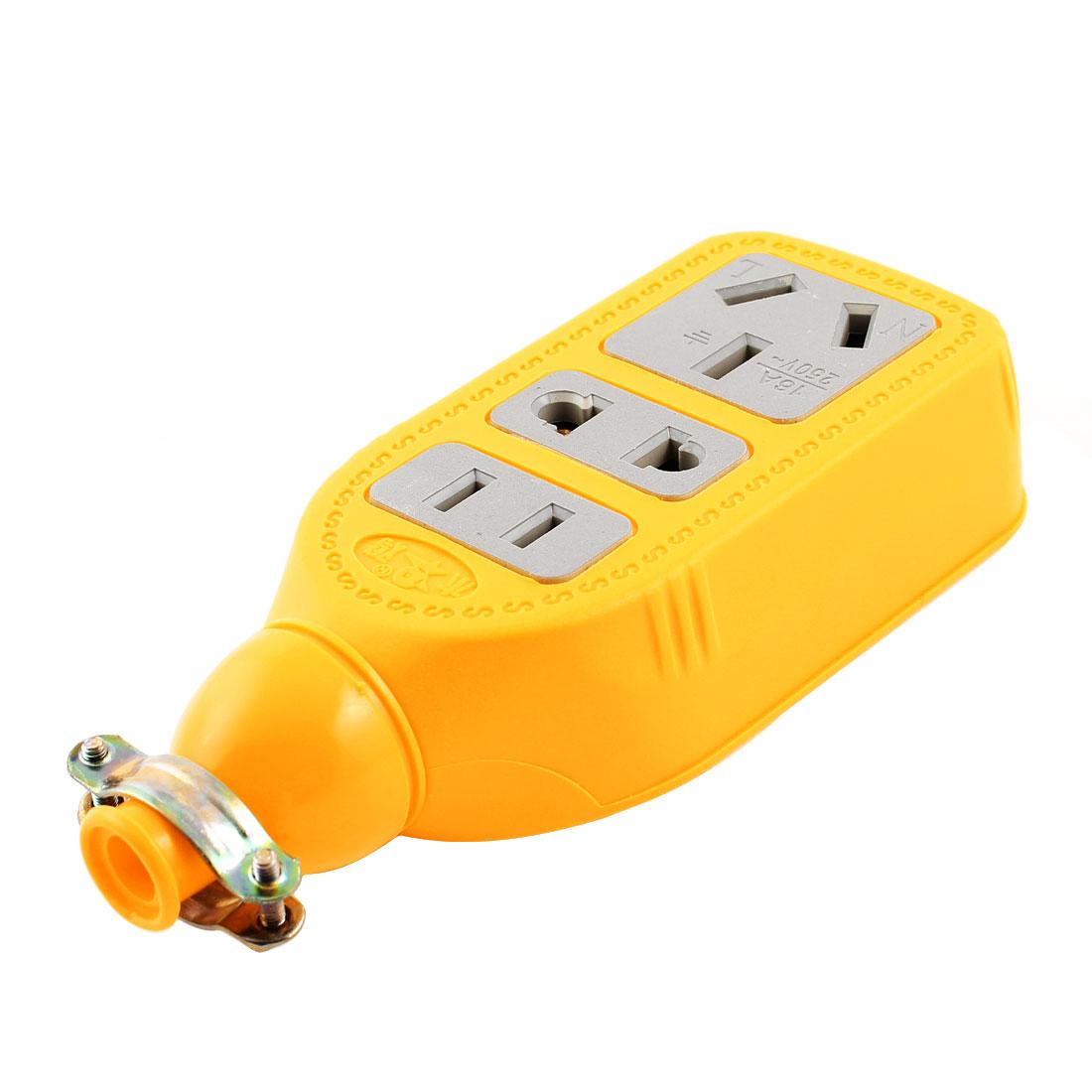 AU EU US Plug AC 250V 16A 3 Outlet Sockets Electric Power Strip Bar Splitter