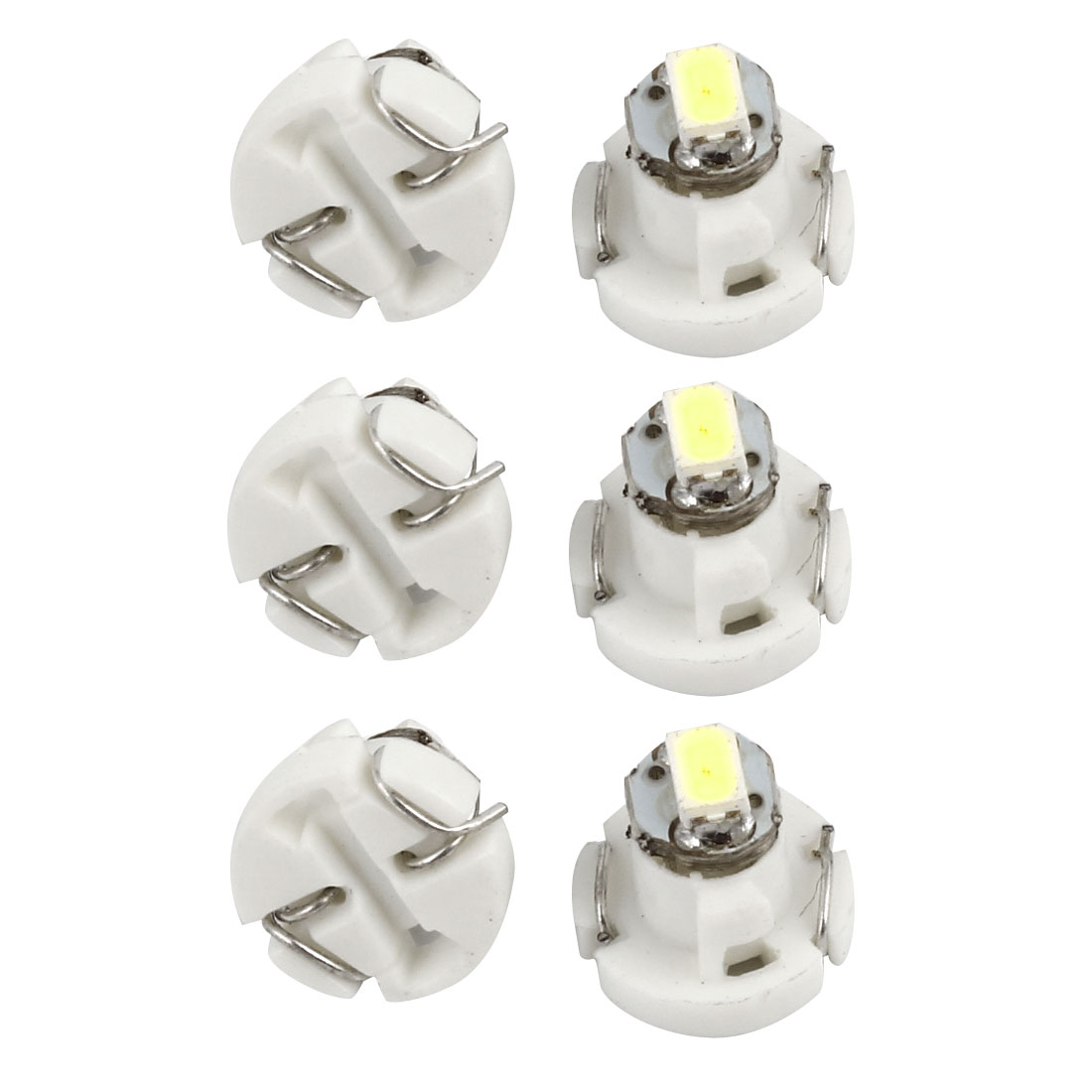 6pcs White T3 3020 SMD 1-LED Instrument Dash Gauge Light Bulb for Car Internal