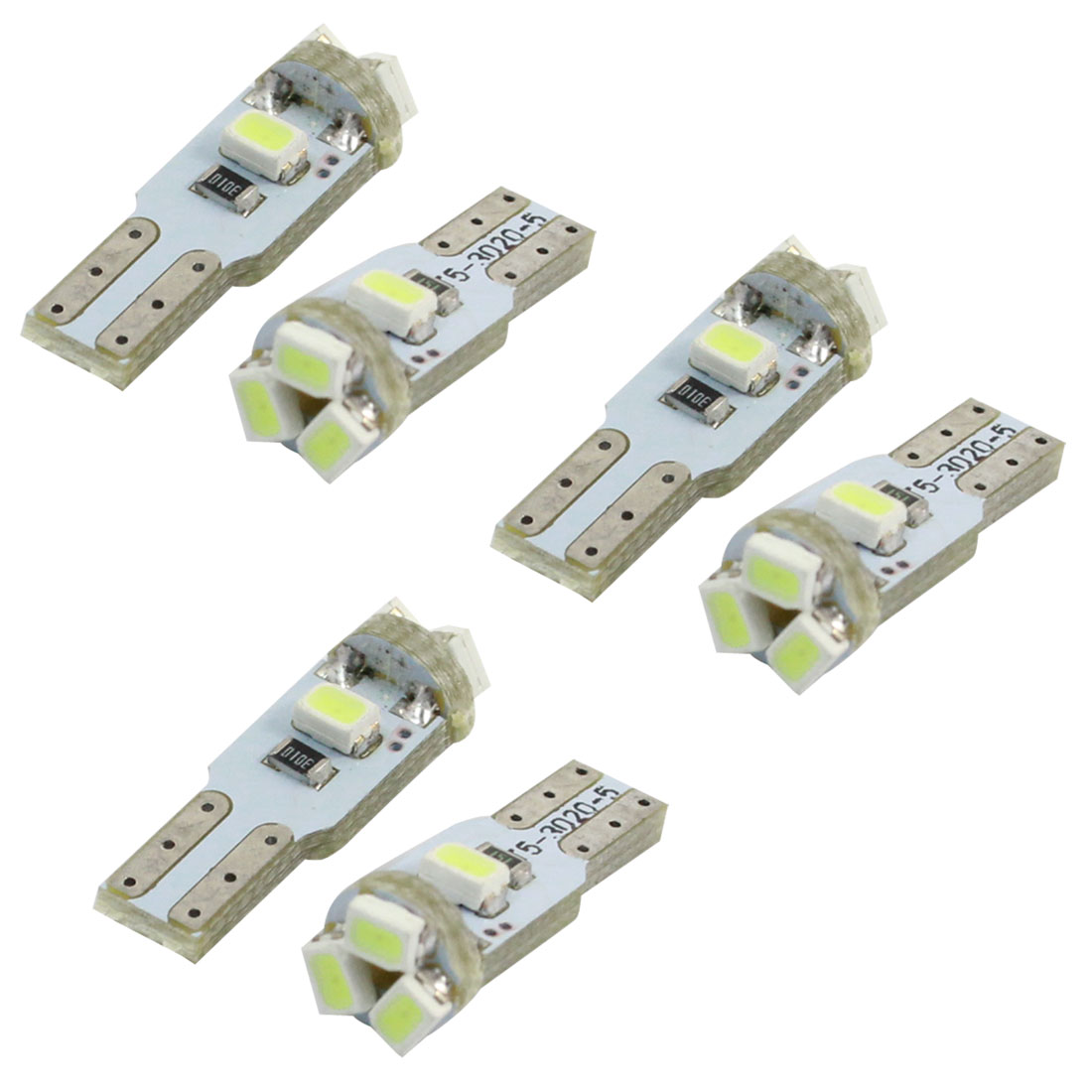 6 Pcs T5 3020 Ice Blue 5 LED Internal Dashboard Replacement Light Bulbs for Car