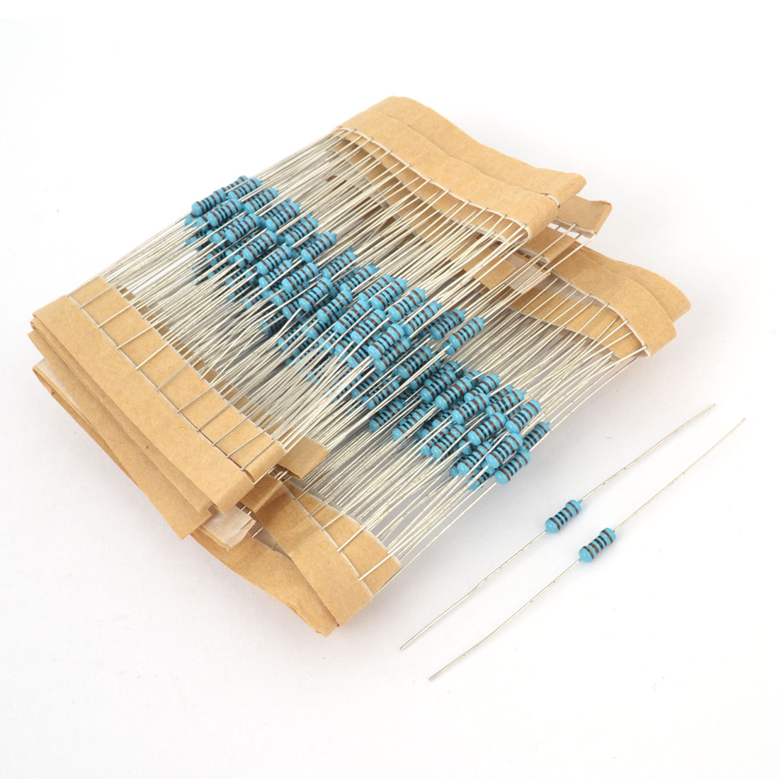 300 Pcs Axial Lead 0.25W 1% 1K Ohm Flameproof Electronic Metal Film Resistor