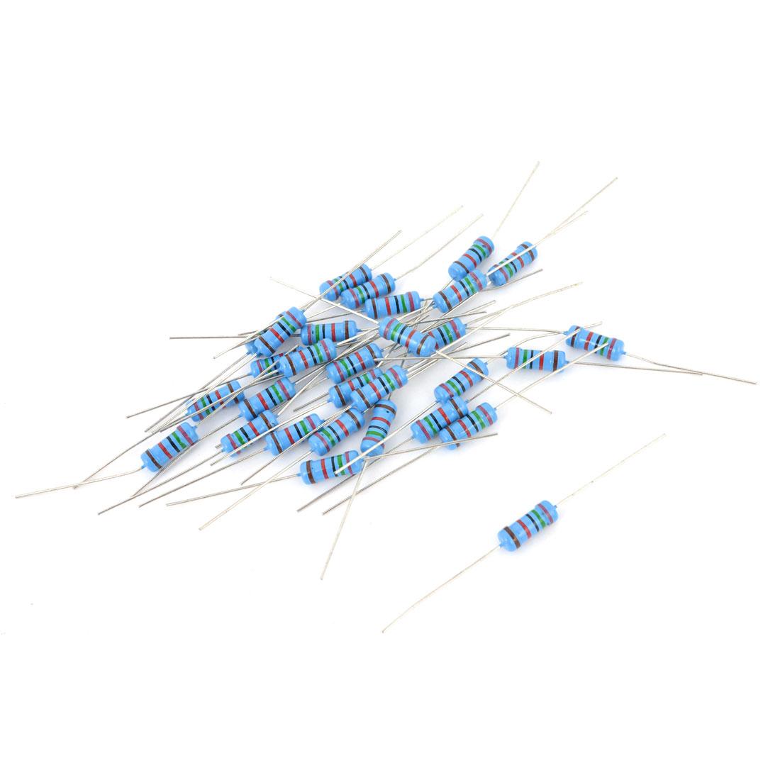 30 Pcs 1 W 1% Tolerance 75K Ohm Axial Lead Oxide Metal Film Resistor