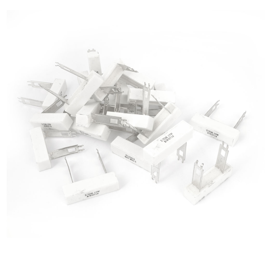 30 Pieces 2.7 Ohm 10% Tolerance 15 Watt Ceramic Cement Power Resistor
