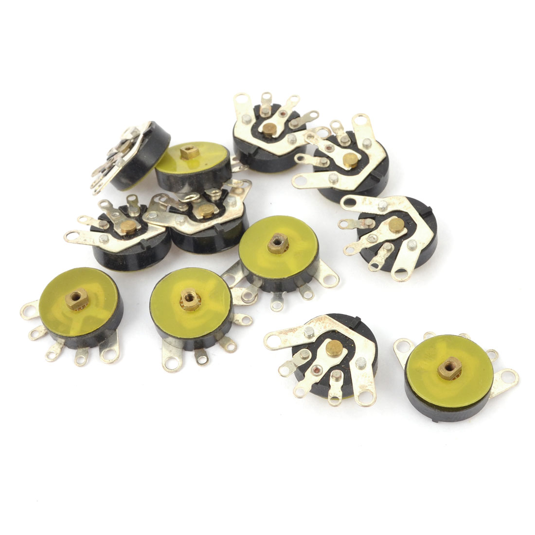 10 Pcs 12.5mm Dia Carbon Film Rotary Potentiometer Switch 10K Ohm