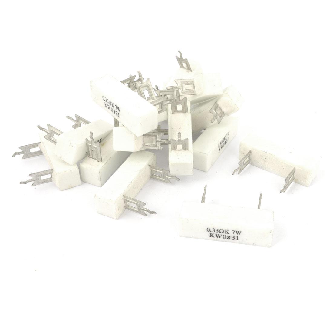 15 Pieces 0.33 Ohm 10% Tolerance 7 Watt Ceramic Cement Power Resistor