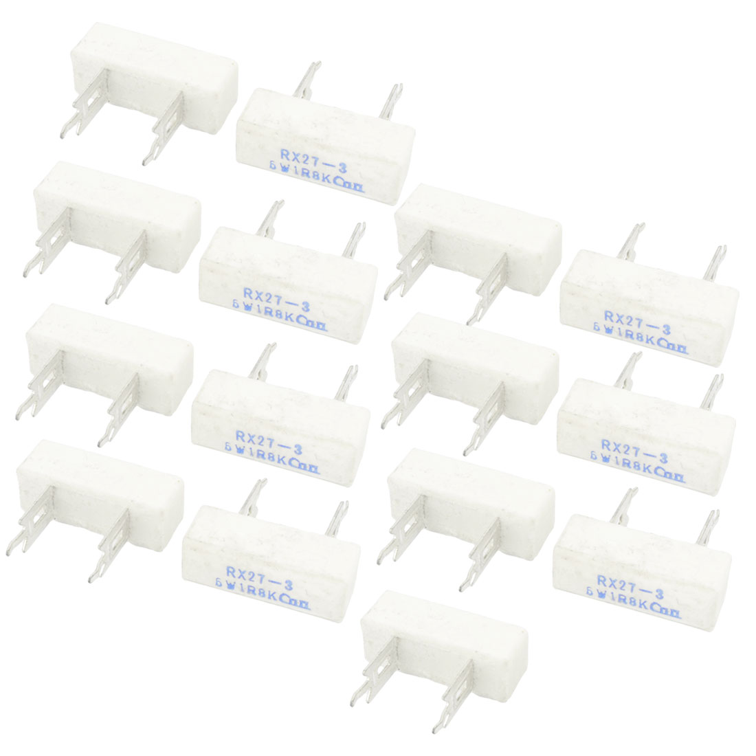 15 Pcs 6W 1.8 Ohm 10% Tolerance DIP Mounting Fixed Wire Wound Ceramic Cement Power Resistor