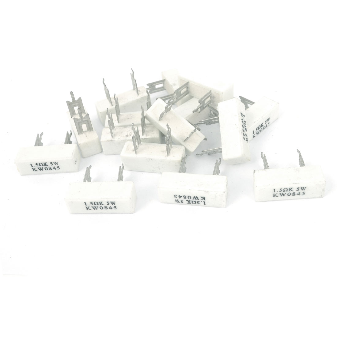 15 Pcs 5W 1.5 Ohm Radial Lead Ceramic Cement Power Resistor