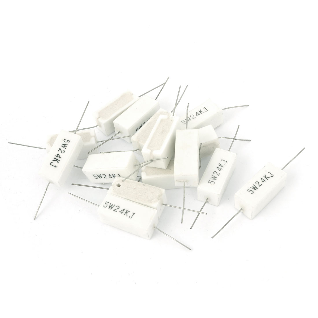 15 Pcs 5W 24K Ohm 5% Radial Lead Ceramic Cement Power Resistor