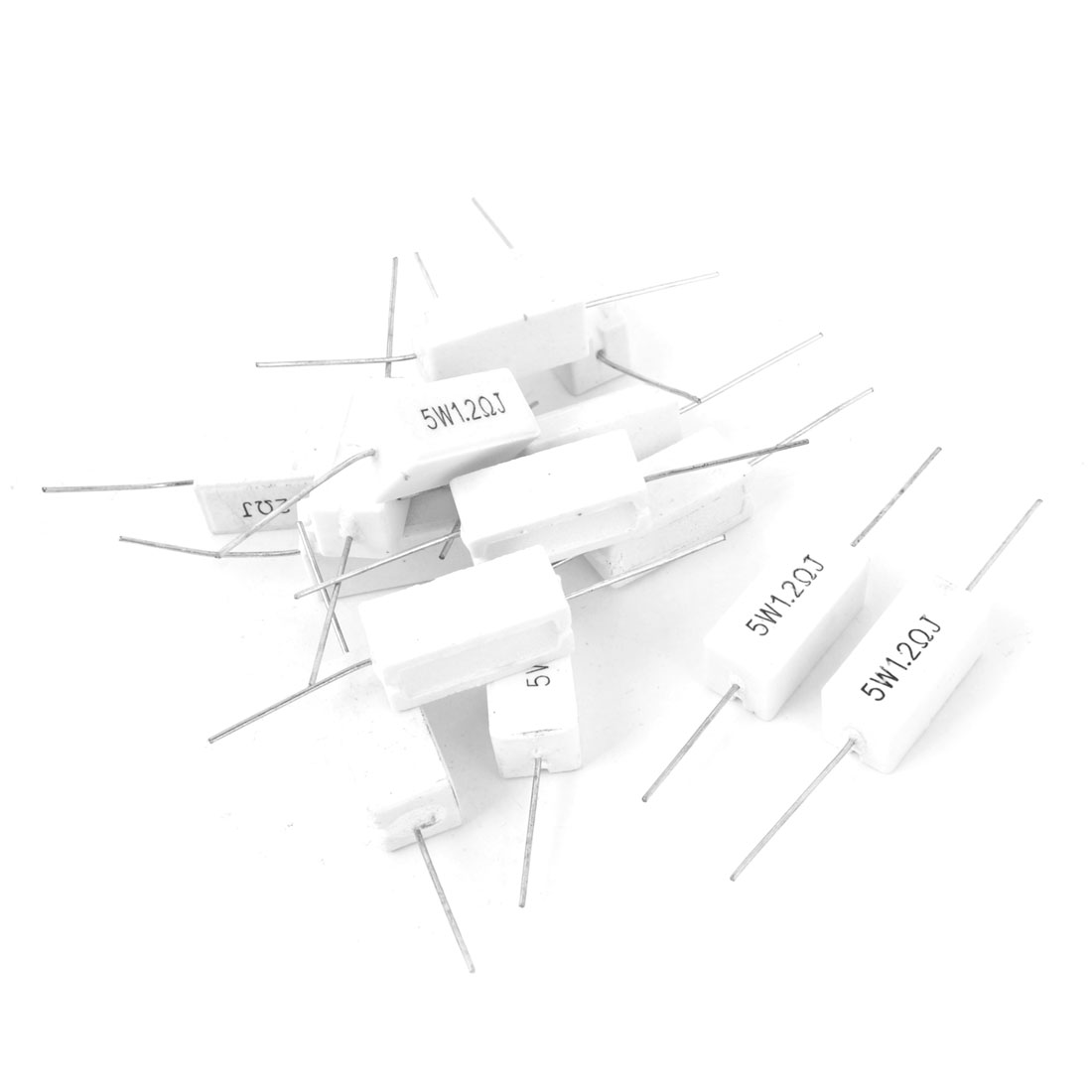 15 Pcs 5W 1.2 Ohm 5% Radial Lead Ceramic Cement Power Resistor