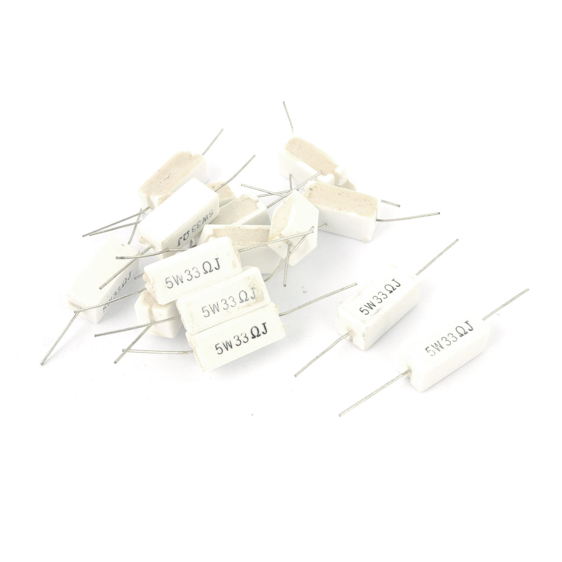 15 Pcs 5W 33 Ohm 5% Radial Lead Ceramic Cement Power Resistor