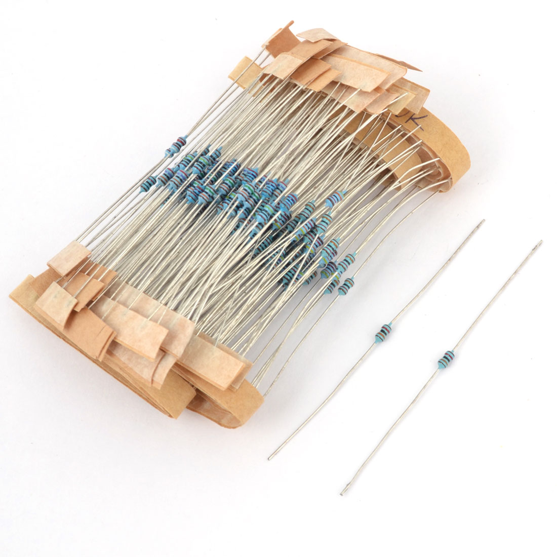 200 Pcs Axial Lead 1/6W 10K Ohm Flameproof Metal Film Resistor
