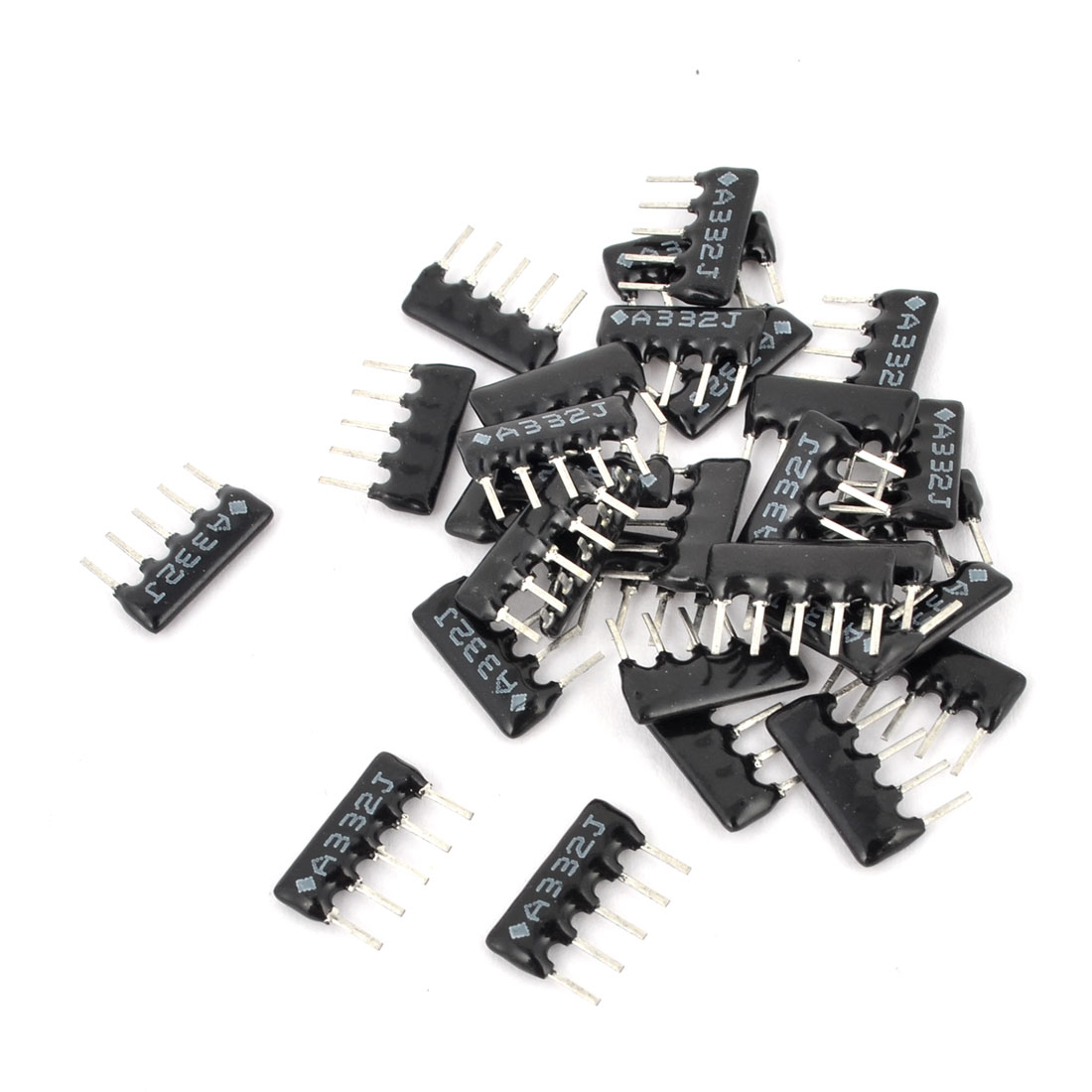 15 Pcs A05-3322 3.2K ohm 2.54 Pitch 5 Pin Lead Network Resistors