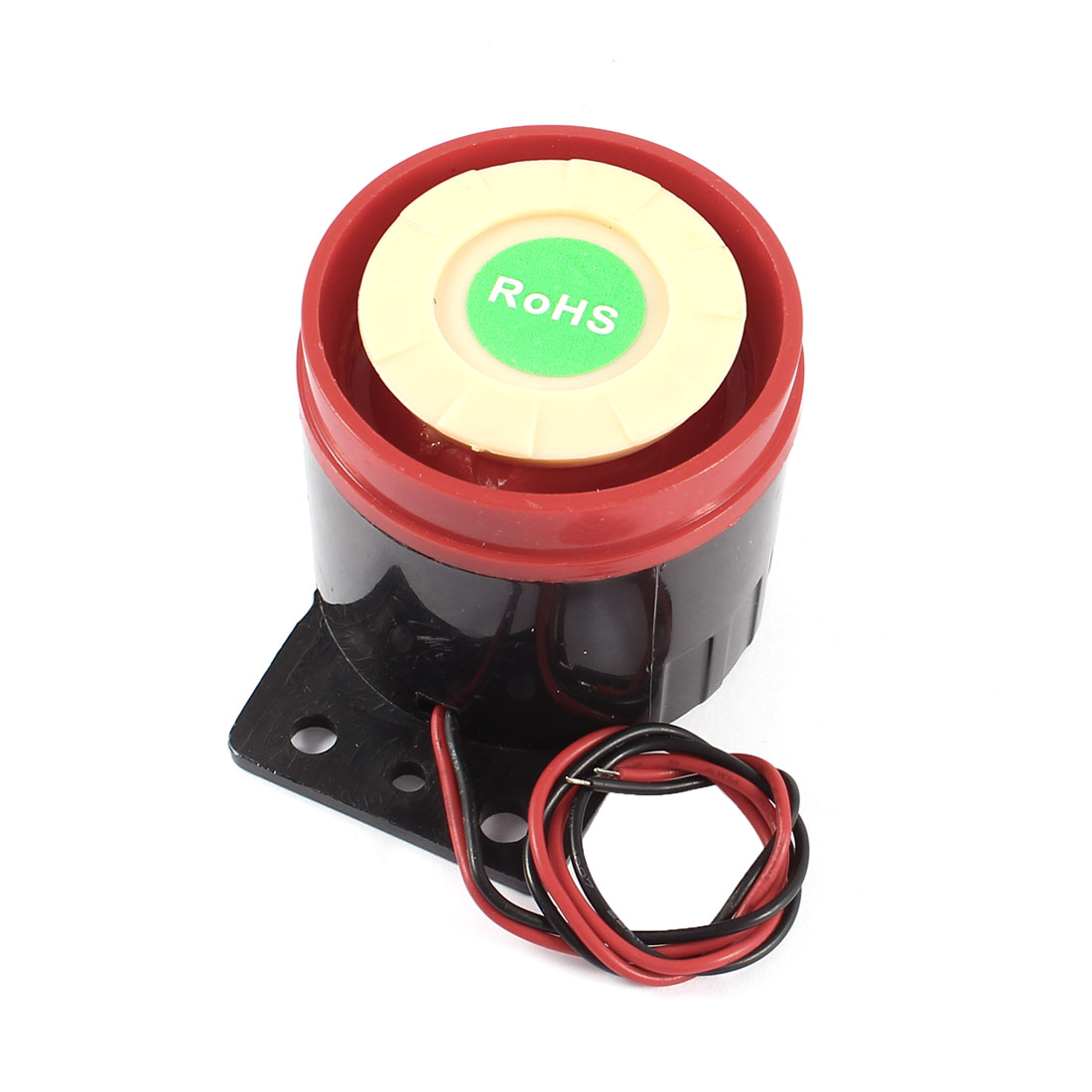 Industrial Miniature Electronic Alarm Buzzer Sounder DC 3-24V 10A Black Red