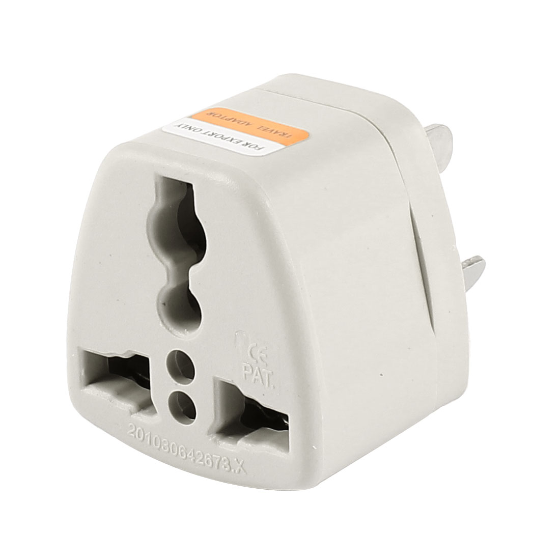 AU Plug AC 250V 10A to EU UK US Socket Travel Wall Adapter Converter Gray