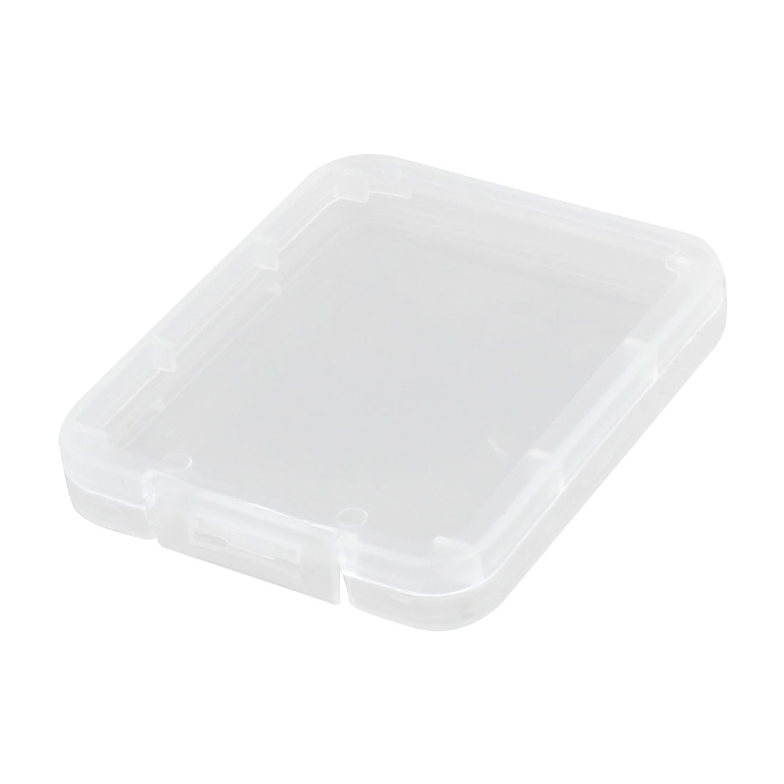 Memory CF SIM Card Clear White Plastic Storage Box Container 5.2 x 4.3 x 0.7cm