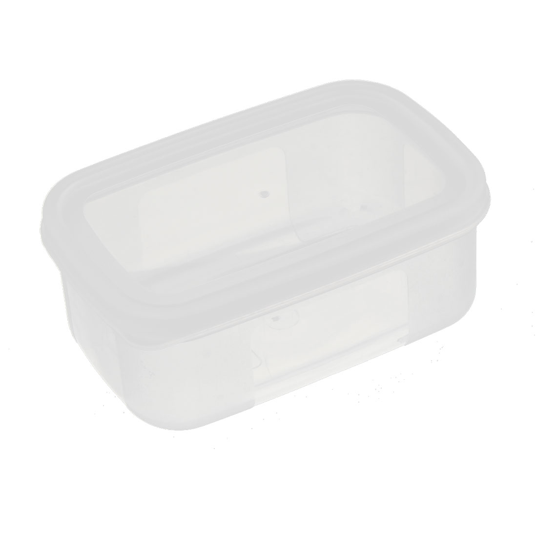 Home Office Components Mini Clip-on Lid Storage Box Container 12cm x 7.9cm x 4.6cm