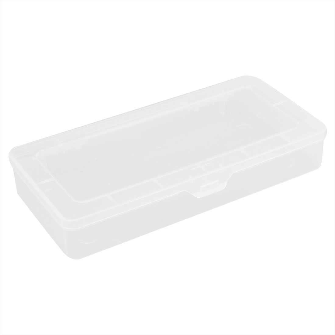Clear White Plastic Single Slot Electronic Components Storage Case Box 260x125x40mm