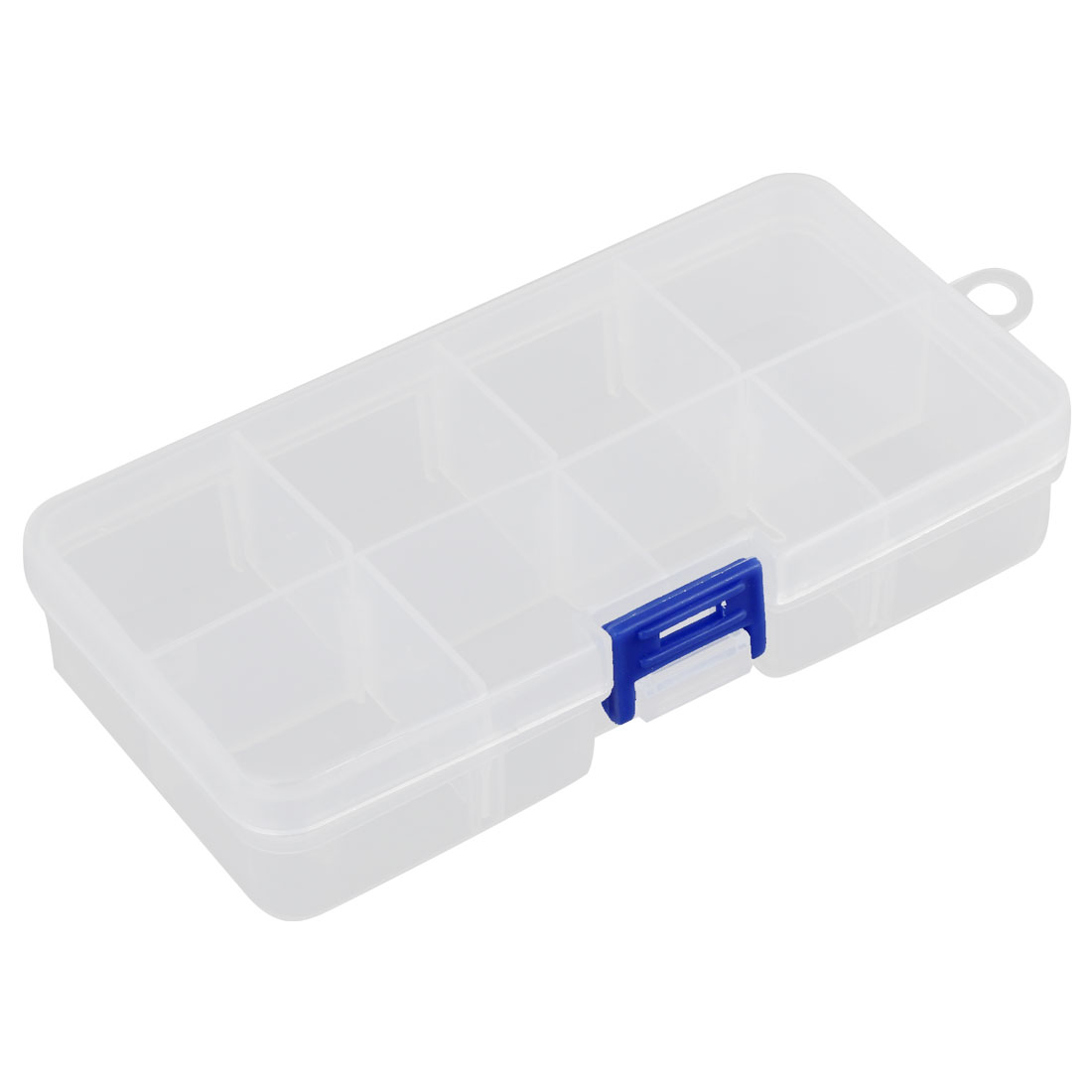 8 Separable Compartments Electronic Components Storage Box Container Transparent