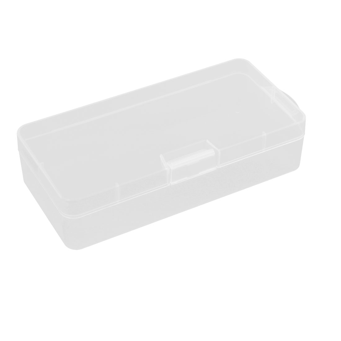 Clear White Plastic Multi-purpose Electronic Components Case Storage Box Container 18.5 x 8.8 x 4.5cm