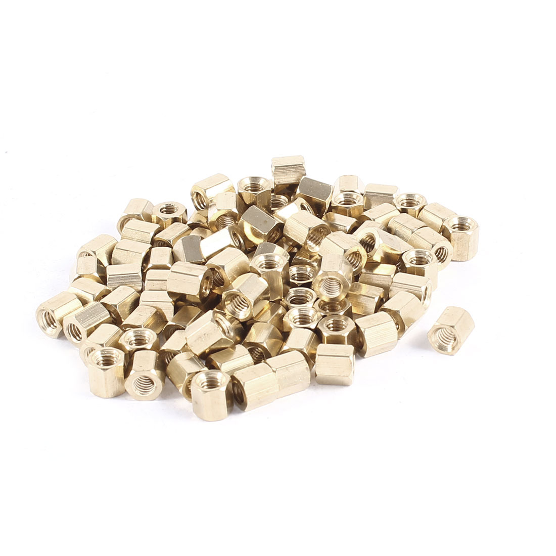100 Pcs Hex Female Nut Brass Standoff Spacer M4x6 M4 6mm