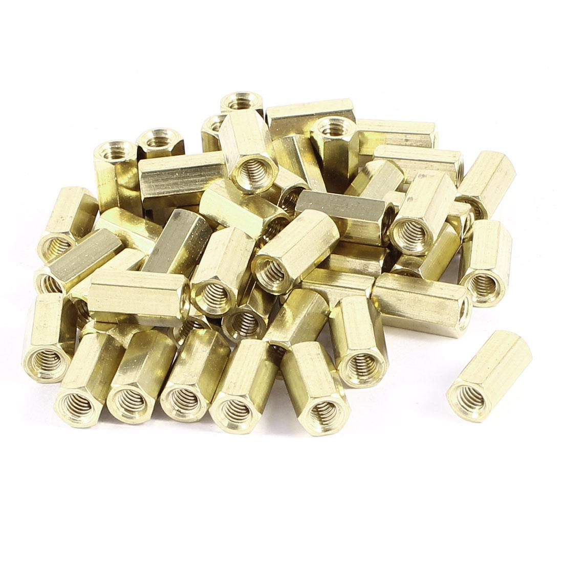 50 Pcs Hex Hexagon Female Nut Brass Standoff Spacer M4x12 M4 12mm