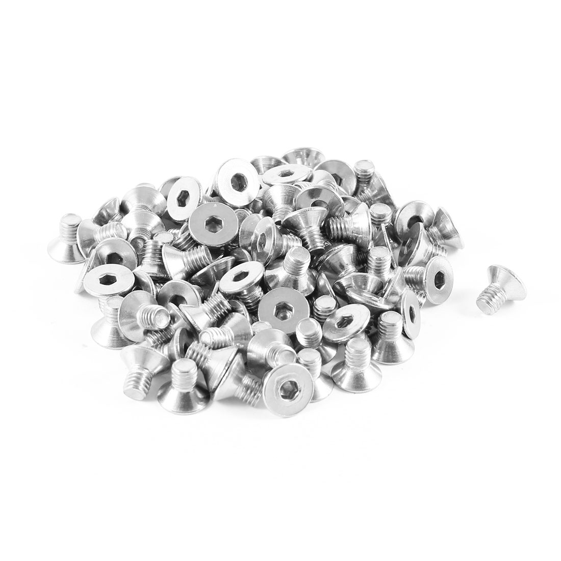 100 Pcs 304HC Stainless Steel Countersunk Flat Head Bolt Screw M5x8mm