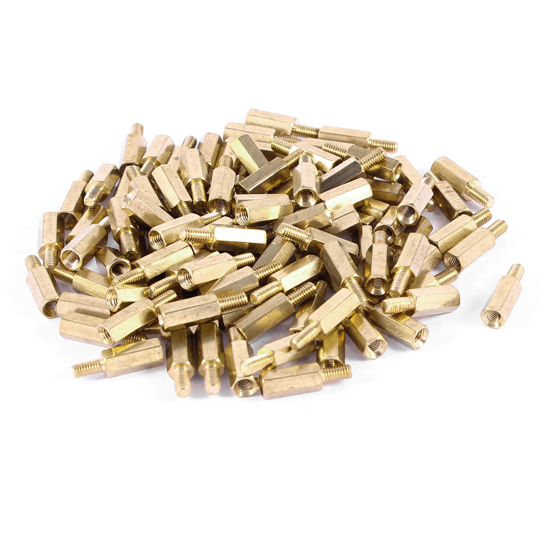 100 Pcs Brass Hex Standoff Spacer M3x11mm Female to M3x6mm Male M3 11+6mm