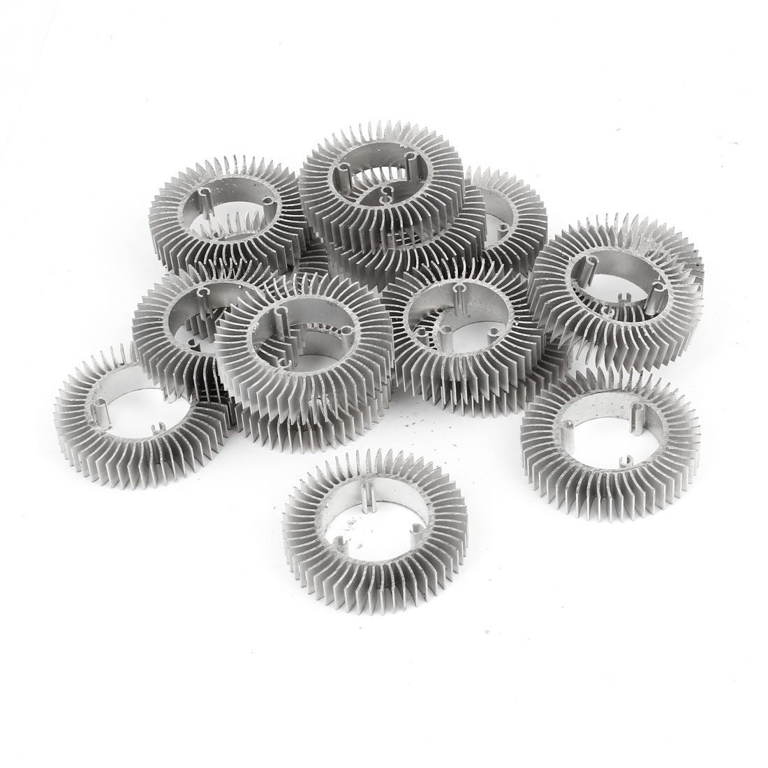 15 Pcs Round Shaped 50mm OD 28.5mm ID 10mm Height LED Light Heatsink Cooling Fin