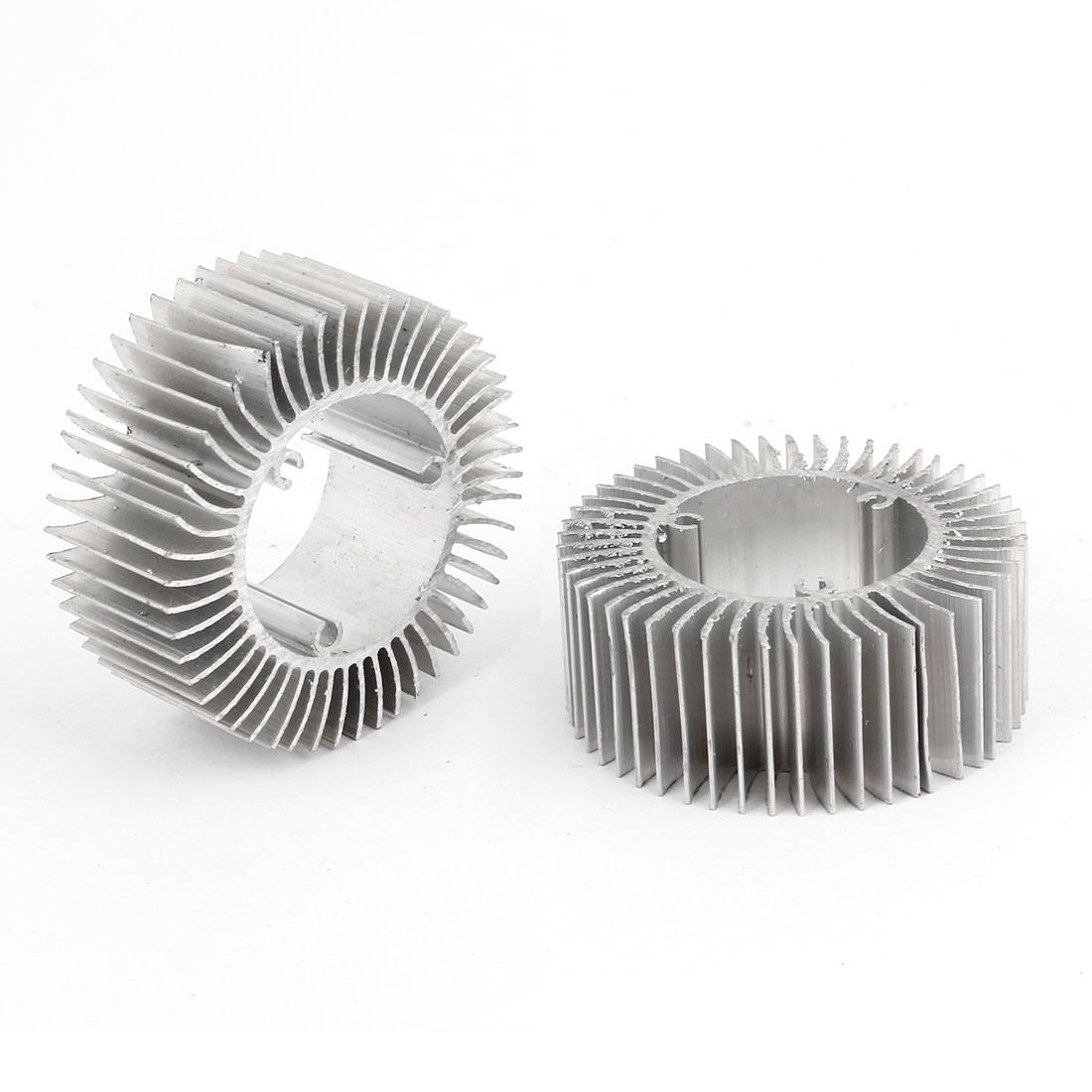 Led Light Lamp Aluminum Heatsink Radiator Cooling Fin 50mmx28.5mmx20mm 2 Pieces