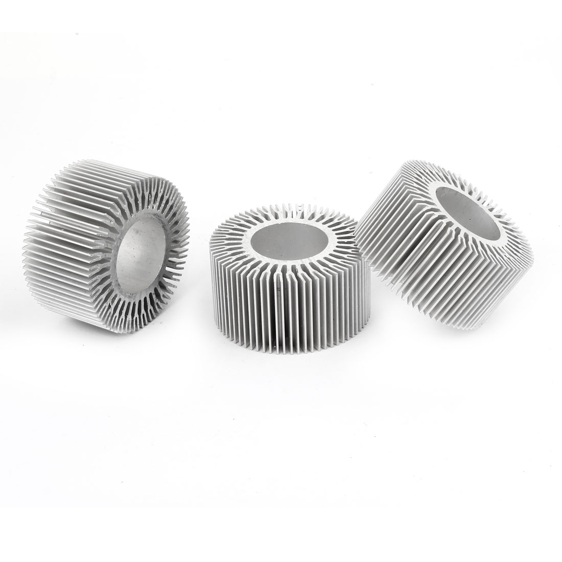Led Light Lamp Aluminum Heat Sink Heatsink Radiator Cooling Fin 58mmx28mmx30mm Silver Tone 3 Pieces