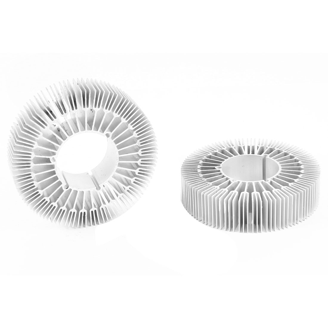 2 Pieces Round Shape 80mm OD 33mm ID 20mm Height LED Light Heatsinks Cooling Fin