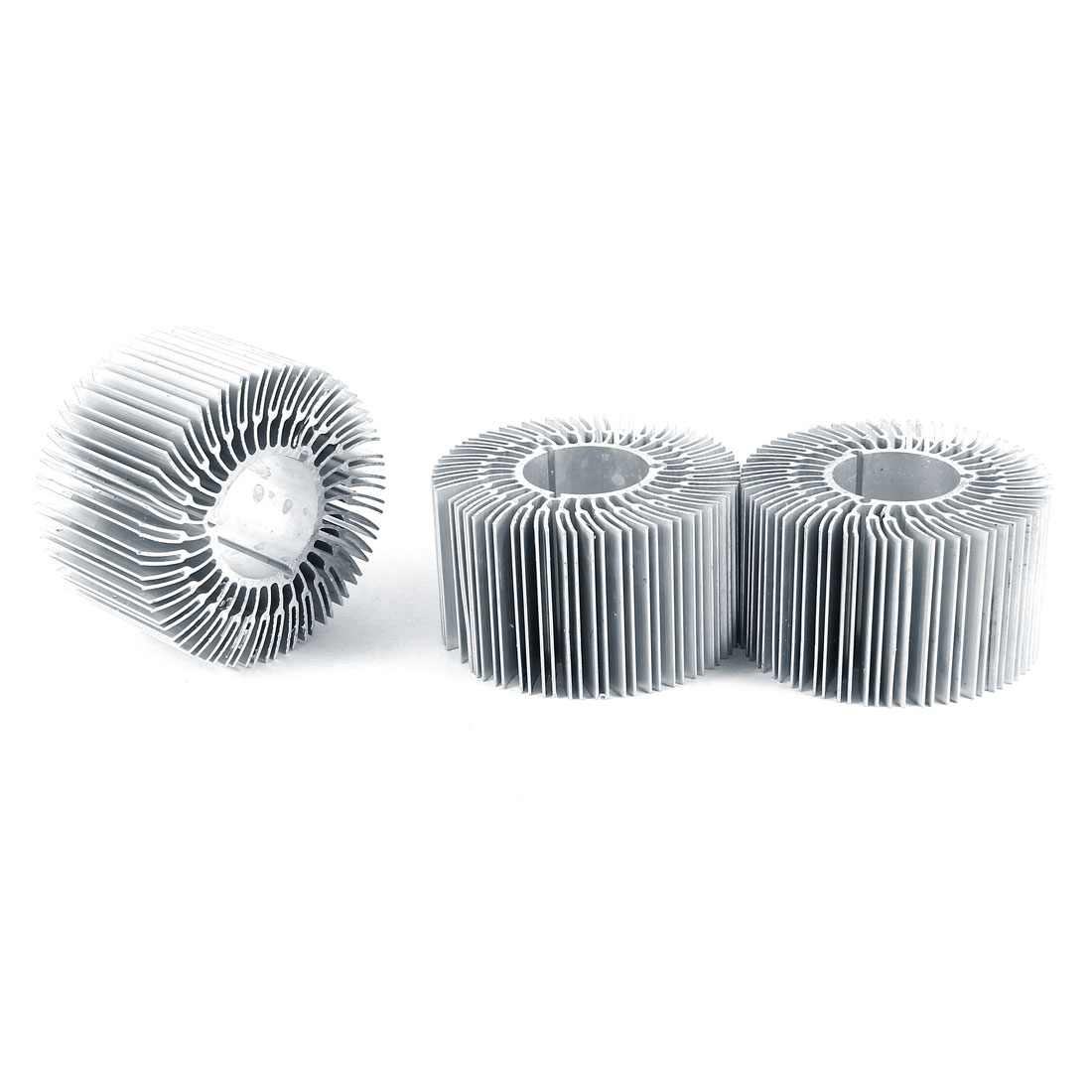 3 Pieces Round Shape 70mm OD 28mm ID 40mm Height LED Light Heatsinks Cooling Fin