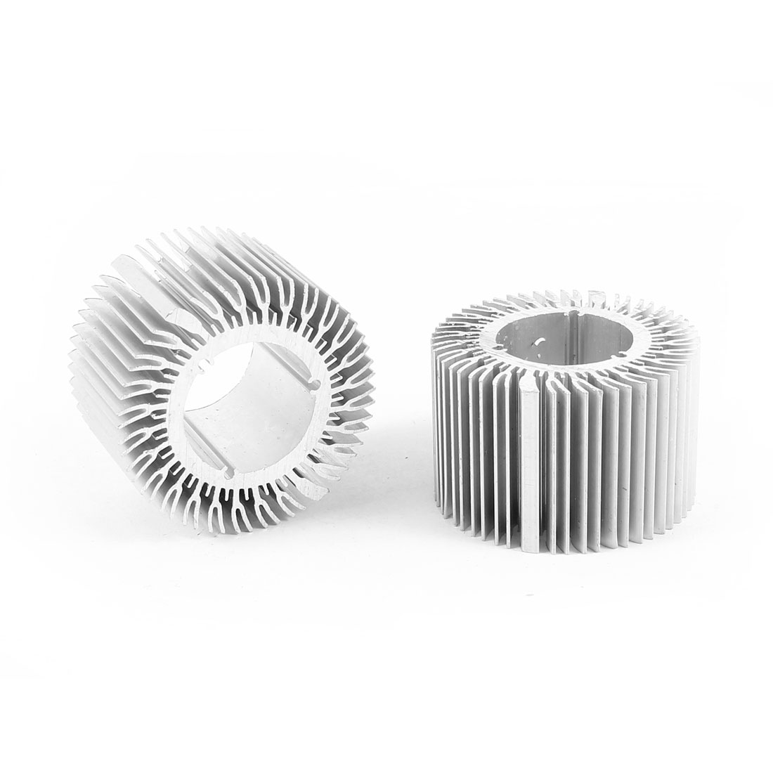 2 Pcs Round Shaped 48mm OD 24mm ID 30mm Height LED Light Heat Sinks Cooling Fin