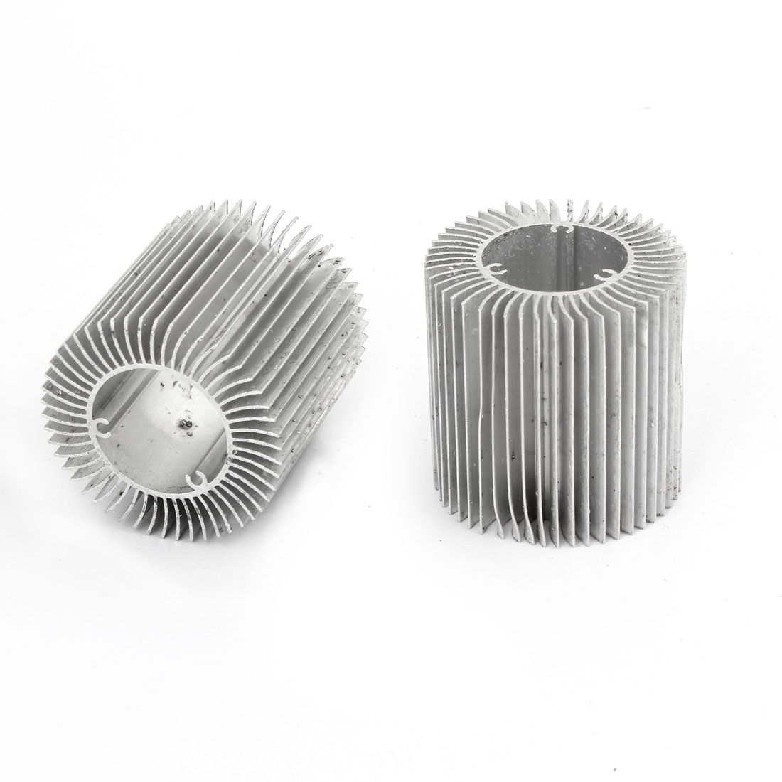 2 x Aluminium Heatsink Cooling Fin Cooler Silver Tone 50x28.5x50mm for Led Lamp