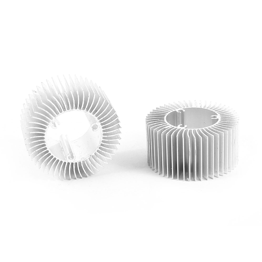 2 Pcs Round Shaped 50mm OD 28.5mm ID 25mm Height LED Light Heatsinks Cooling Fin