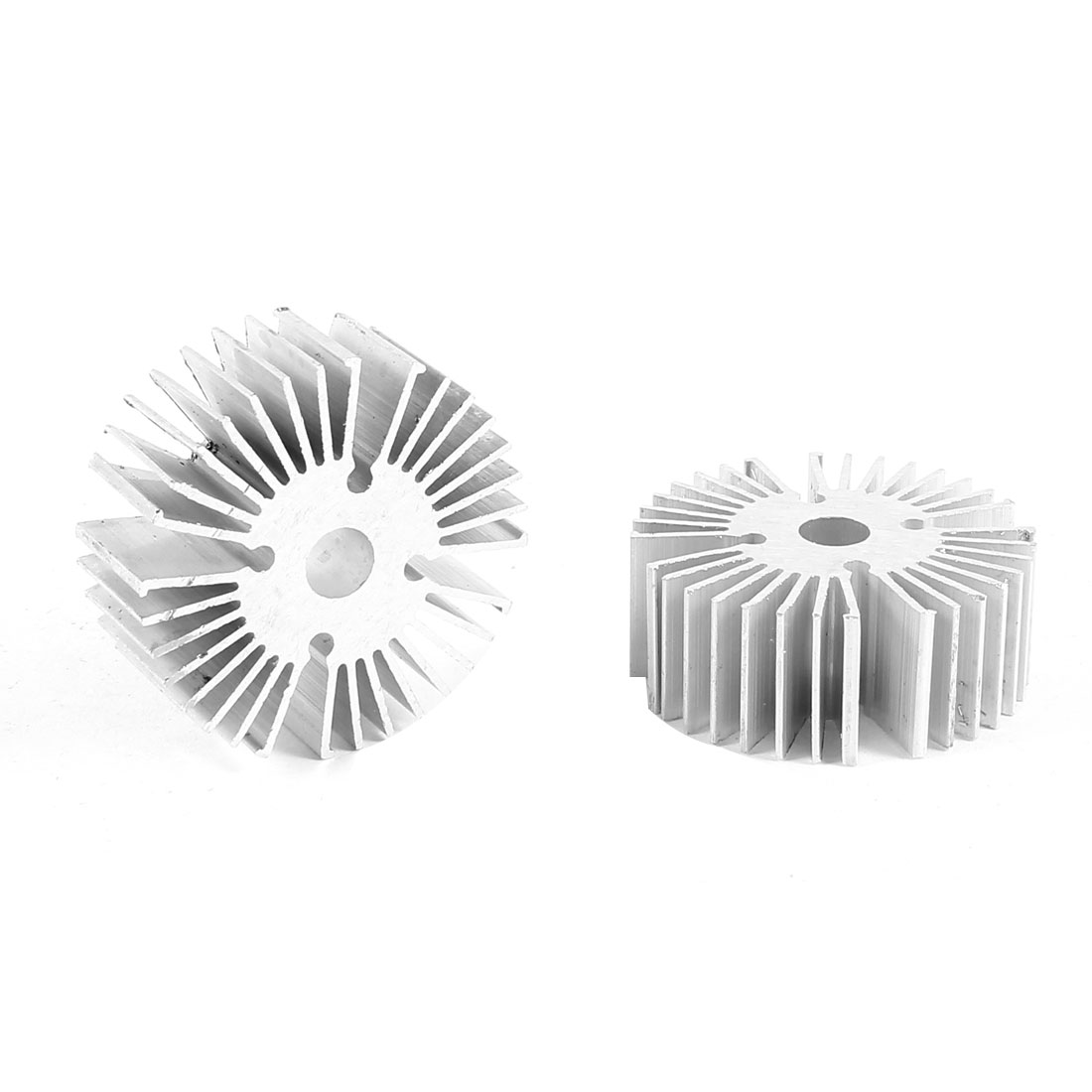 2 Pcs Round Shaped 39mm OD 6.5mm ID 15mm Height LED Light Heat Sinks Cooling Fin