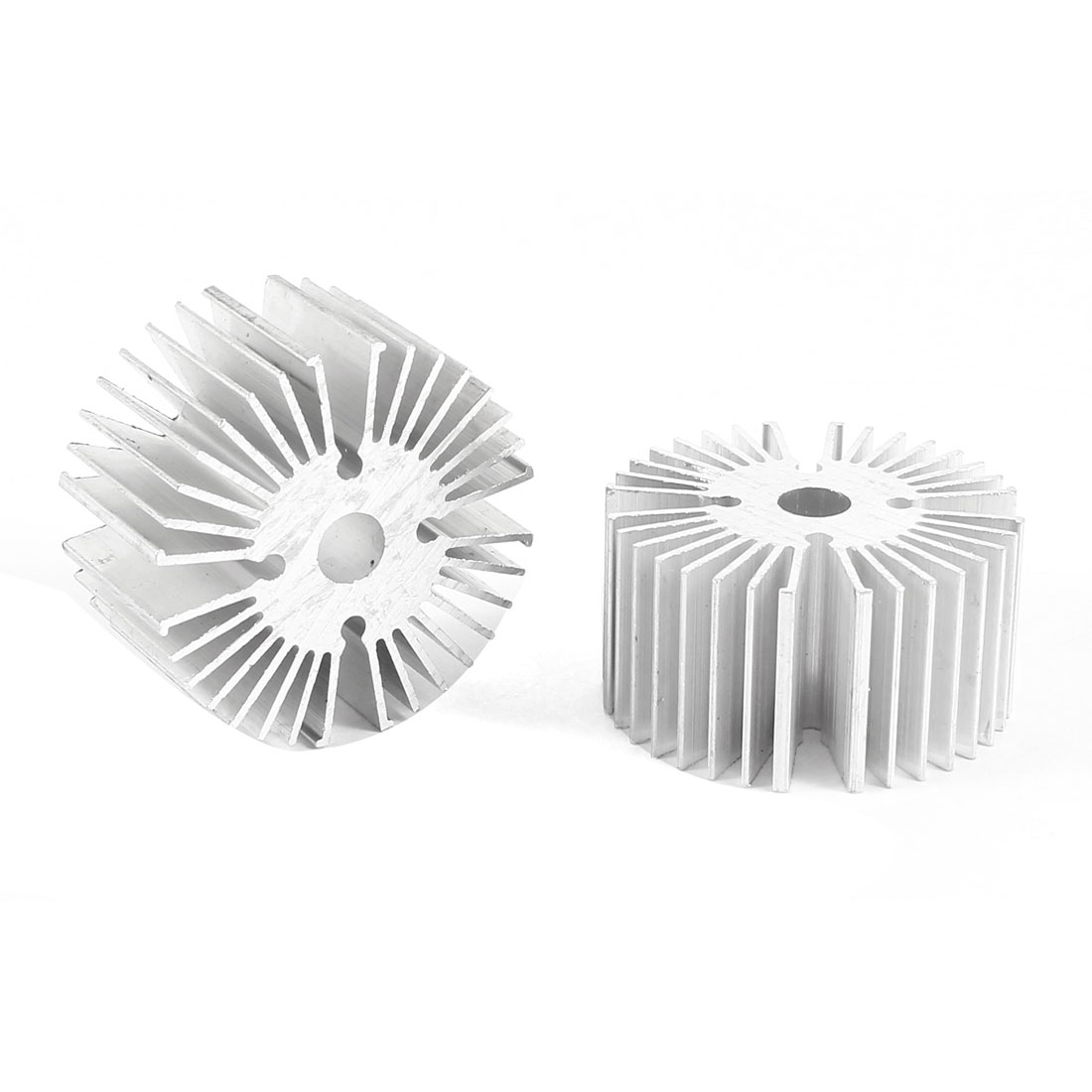 2 Pcs Round Shaped 39mm OD 6.5mm ID 20mm Height LED Light Heat Sinks Cooling Fin