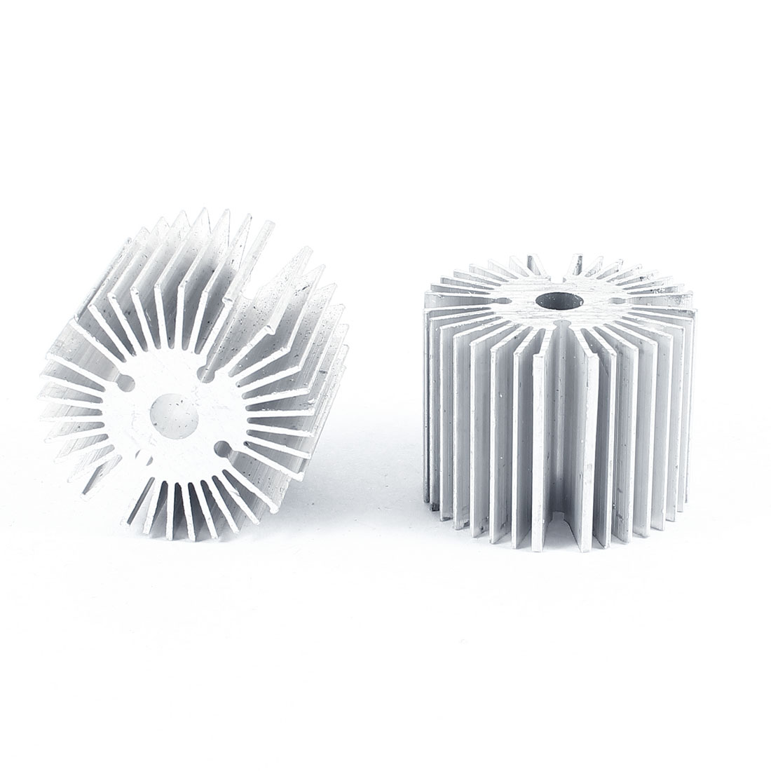 2 Pcs Round Shaped 39mm OD 6.5mm ID 30mm Height LED Light Heat Sinks Cooling Fin