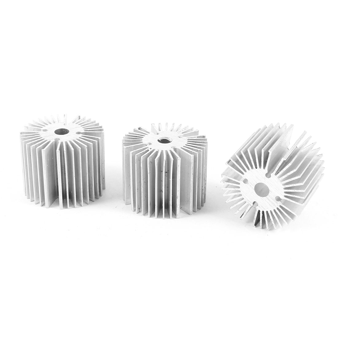 3 Pcs Round Shaped 39mm OD 6.5mm ID 30mm Height LED Light Heat Sinks Cooling Fin