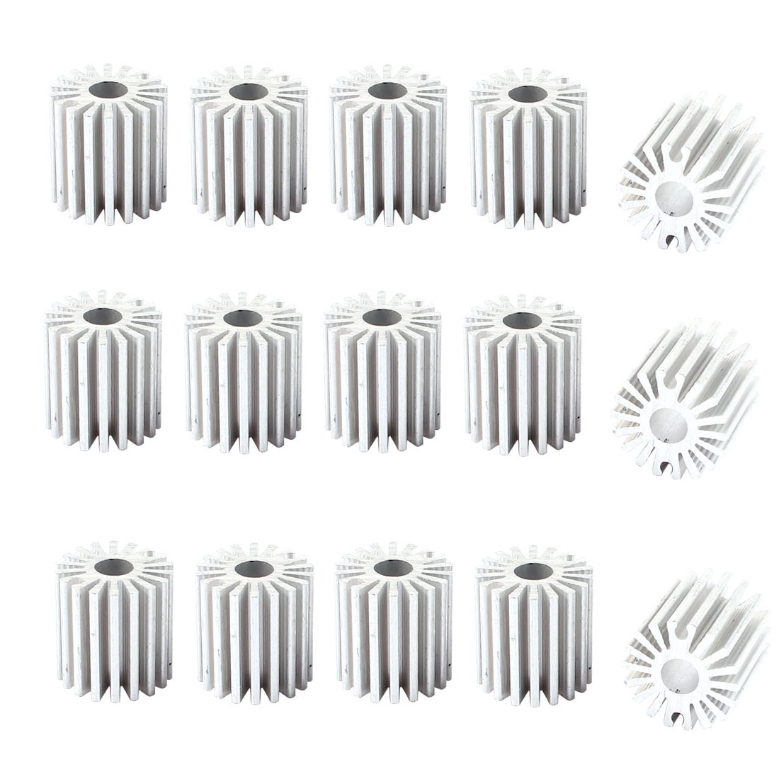15pcs Aluminium Radiator Heatsink Cooling Fin Silver Tone 20x6x20mm for Led Light